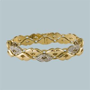 браслет из комбинированного золота