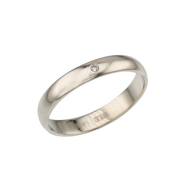 Обручальное кольцо с бриллиантом Александрит - Бриллиант - Белое золото - 6850руб