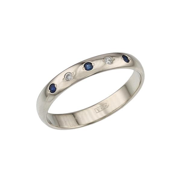 Кольцо с сапфирами обручальное